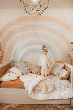 Big Girl Bedrooms, Little Girl Rooms, Cool Girl Rooms, Toddler Rooms, Girl Toddler Bedroom, Girl Kids Room, Toddler Room Decor, Rainbow Girls Bedroom, Room Ideas For Girls