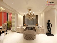LUXURIOUS LIVING ROOM -: eclectic Living room by MAPLE studio design