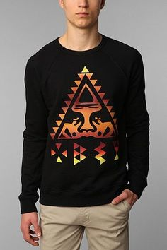 """OBEY OG Face Triangle Crew Sweatshirt -- """"I would sell my brother for the jumper. Crew Sweatshirts, Crew Neck Sweatshirt, Pullover, Obey Sweatshirt, Crewneck Sweaters, Urban Fashion, Mens Fashion, Fashion Outfits, Swag Outfits"""