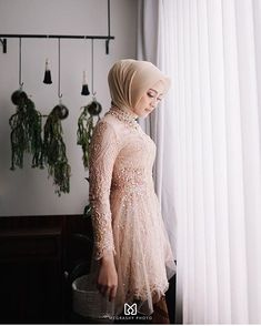 Discover recipes, home ideas, style inspiration and other ideas to try. Model Kebaya Muslim, Kebaya Modern Hijab, Model Kebaya Modern, Kebaya Hijab, Kebaya Brokat, Kebaya Lace, Kebaya Dress, Hijab Dress Party, Hijab Wedding Dresses