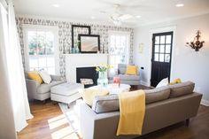 fixer upper magnolia living rooms chicken market homes episode cozy joanna gaines wall yellow space decor accent area season door