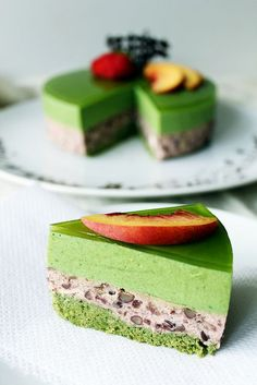 Recipe: Matcha Green Tea Génoise Sponge and Azuki Red Bean Mousse Cake: