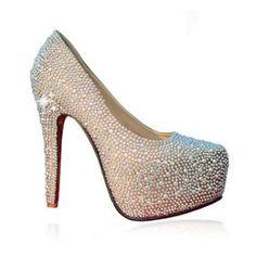 $28.99 Wedding Rhinestone and Platform Design Women's Stiletto Heel Pumps