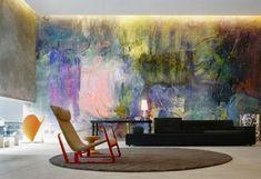 moderne kunst deckenbeleuchtung teppich