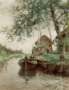Willem Bastiaan Tholen - Boerderij aan een vaart
