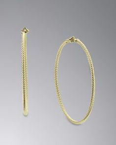 Y1MWT David Yurman Cable Hoop Earrings