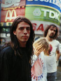 Nirvana in London, 1991.