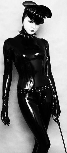 Latex catsuit Domina