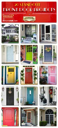 15 Stand-Out Front Door Projects | by 'Making Lemonade' blog!