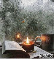Rainy days Candle Jars, Candles, Random Gif, Winter Cabin, Warm Fuzzies, Rainy Days, Plushies, Candy, Rain Days
