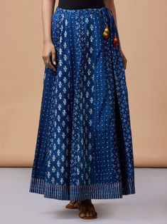 The Loom- An online Shop for Exclusive Handcrafted products comprising of Apparel, Sarees, Jewelry, Footwears & Home decor. Wrap Skirts, Long Skirts, Chanya Choli, Indian Designer Suits, Kurti Patterns, Indian Attire, Woman Clothing, Blouse Styles, Boho Outfits