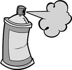 holding a can of spray paint my vector art on shutterstock rh pinterest com spray painter clip art spray paint clipart