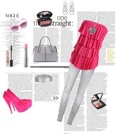 """Pink"" by kika-love-fashion ❤ liked on Polyvore"