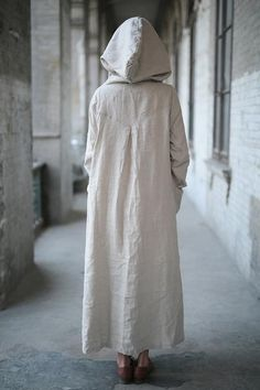 Ctton long dress,beige color hooded cloak,black color hooded coat,woman – Plus Size Clothing Ladies Hooded Coats, Coats For Women, Jackets For Women, Women's Jackets, Linen Dresses, Cotton Dresses, Tunic Dresses, Maxi Skirts, Coatdress