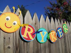 MADE TO ORDER Caterpillar Custom Name Banner for by CutieBugShop, $17.00