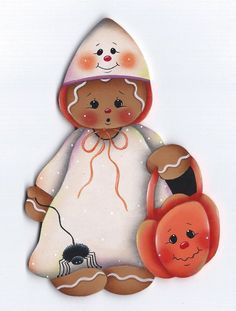 GINGERBREAD Halloween Costume - Handpainted by Pamela House