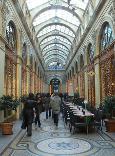 The interior of Galerie Vivienne in Paris [Photo by David DeMoney]