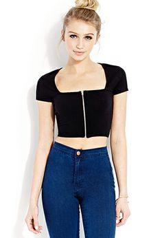 Clear Cut Crop Top | FOREVER21 - 2000071875 (Black skirt pair idea) http://www.forever21.com/Product/Product.aspx?BR=f21&Category=21_items&ProductID=2000071875&VariantID=&siteID=Hy3bqNL2jtQ-wLSq37yJSt4g2gOE9DgtIQ&ls_affid=Hy3bqNL2jtQ&utm_campaign=Hy3bqNL2jtQ&utm_source=affiliatetraction&utm_medium=ls