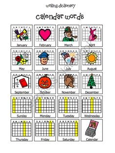 Visual Writing Dictionary from Miss B's Special Education Classroom on TeachersNotebook.com (40 pages)  - Visual Writing Dictionary to Promote Independence in Writing