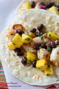 Shrimp Tacos with Chili Mustard Aioli and Mango Black Bean Salsa by ...