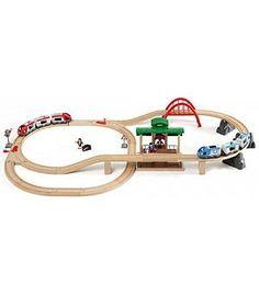 BRIO 33512 - Circuito tren de madera con paradas de pasajeros
