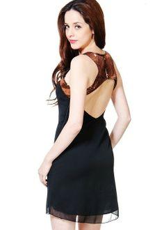 #sequins #LBD #dress #black #cutoutvia @Roposo
