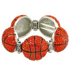 Basketball Red Rhinestone Stretch Bracelet Fashion Jewelry PammyJ Bracelet. $28.99. PERFECT FOR GIFT GIVING. SPORTS FAN JEWELRY. COMES IN FOIL GIFT BOX. ONE SIZE FITS ALL. LEAD AND NICKEL COMPLIANT