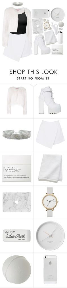"""Untitled #320"" by smkingtodth ❤ liked on Polyvore featuring Giamba, Jeffrey Campbell, BeginAgain Toys, NARS Cosmetics, CB2, Skagen, Paper Mate and Georg Jensen"