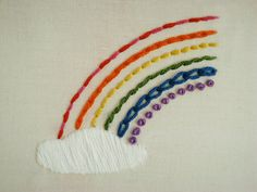 This rainbow stitch sampler is ingenious - I'm gonna do one of my own!!! Loves it!