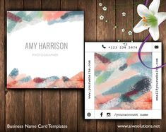 Square Business Card Template, aqua blue peach Abstract Name Card Template,Artist name card, minimal business card #NameCardTemplate #CuteBusinessCard #FashionNameCard #BusinessCard #NameCard #HandmadeCard #CallingCard #BusinessTemplate #PhotographyCard #CustomiseTemplate