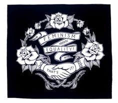 Feminismus zurück Patch - Black