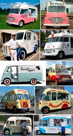 Vintage British Ice Cream Trucks