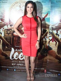 Sunny Leone posing while promoting