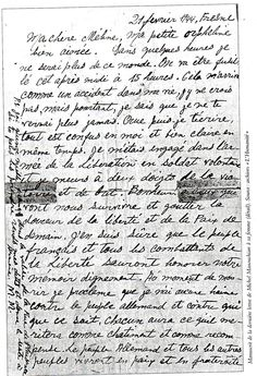 'In a few hours I will no longer be of this world. We are going to be executed today at 3:00. This is happening to me like an accident in my life; I don't believe it, but I nevertheless know that I will never see you again.' The last letter written by French-Armenian resistance fighter Missak Manouchian.