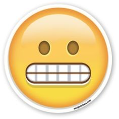 Emoji Faces | Grimacing Face | Emoji Stickers | Emoji Stickers | Persons