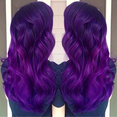 Brilliant purple hair color and long purple hair. Artist credit to come. hotonbeauty.com