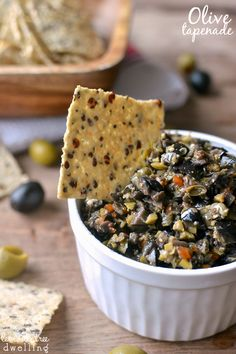 The BEST Olive Tapenade! Comes together in just 5 minutes and is packed with flavor!