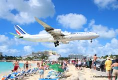 Sunset Bar and Grill, St. Maarten - beautiful beach, cold drinks and 747's flying over your head!