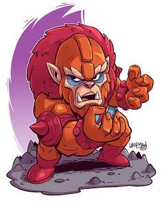Chibi Beast Man - by Derek Laufman Chibi Characters, Cute Characters, Comic Book Characters, Comic Character, Cartoon Logo, Cartoon Art, Logo Super Heros, Dc Comics, Dibujos Anime Chibi