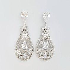 Crystal Wedding Earrings Bridal Jewelry Bridal Earrings