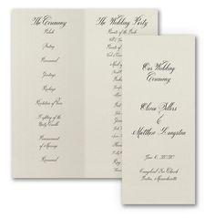 Sophisticated Type Wedding Program