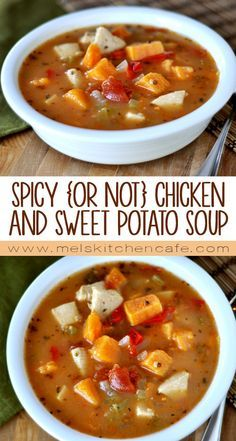 This chicken and sweet potato soup is nutritious, filling, and just downright delicious.