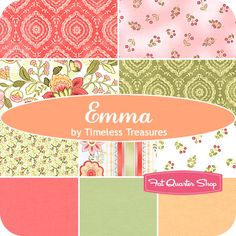 Emma Fat Quarter Bundle Timeless Treasures Fabrics - Fat Quarter Shop