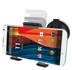 MOTO X Easy-dock Car Mount Holder [Windshield/Dashboard Cradle] New 2015 VersionEncased. Designed specifically with driving SAFETY and straight forward ease of use in mind. CASE COMPATIBLE - Compatible with the MOTO X with or without a case. Rotates to vertical & horizontal positions for OPTIMAL VIEWING angle. Convenient SINGLE HANDED design allows the phone to be inserted or removed using only one hand. Industry leading LIFETIME WARRANTY included with purchase.