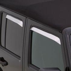 Accessories Window Visor Vent Sun Rain Guard For Range Rover Evoque 2011-2017