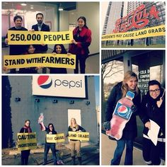 Oxfam delivered 250,000 signatures from our #BehindTheBrands petition to Pepsi offices around the country. Tell Pepsi to help stop land grabs in their supply chain now: http://www.behindthebrands.org/en/campaign-news/take-action