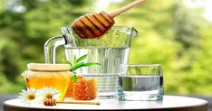 health Benefits of honey with water Contents An immune system booster increase energy production in the body . Honey Benefits, Health Benefits, Immune System Boosters, How To Increase Energy, V60 Coffee, Mason Jars, Healing, Water, Fitness