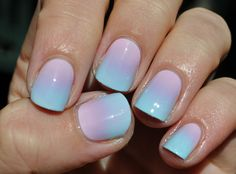 cotton candy mani