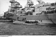 The heavy cruiser Admiral Hipper landing troops in Norway in 1940. This Day in History:  Apr 9, 1940: Germany invades Norway and Denmark in Operation Weserübung http://dingeengoete.blogspot.com/