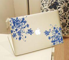 Flower21853decal+macbook+Macbook+Decal+Pro/Air+Sticker+by+Qskin,+$10.99
